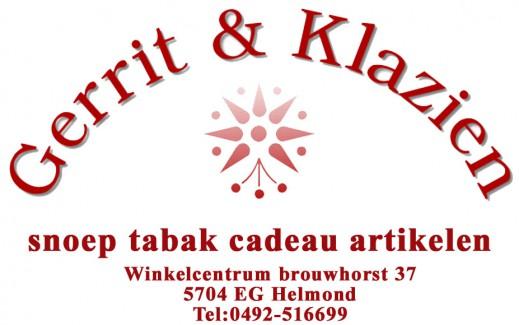 Gerrit & Klazien Snoep Tabak Cadeau-artikelen