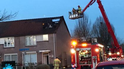 Grote brand in woning Scheerderhof Helmond.