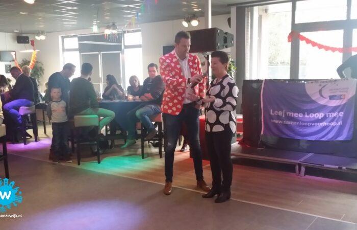 """Succesvol benefiet feest ten bate van """"Samenloop voor hoop"""" en KWF"""