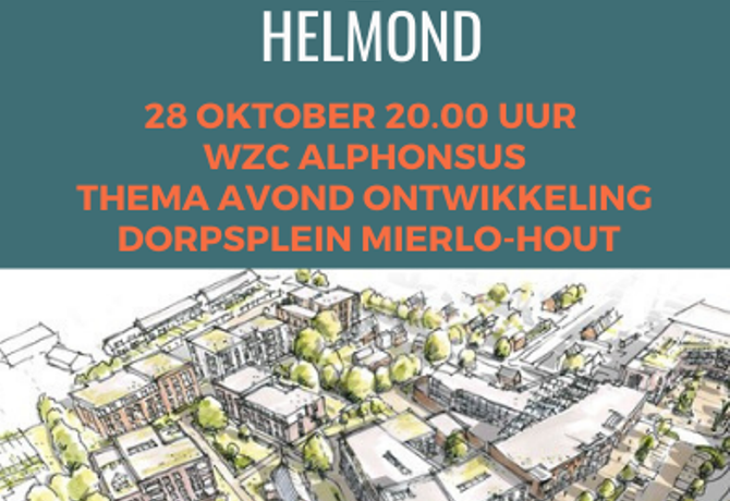 Thema bijeenkomst Dorpsplein Mierlo-Hout