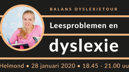 Informatieavond over leesproblemen en dyslexie