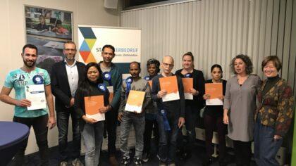 15 deelnemers ontvangen certificaat Stadsleerbedrijf