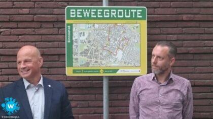 Wethouders de Vries en van Dijk openen de beweegroute van Jibb.