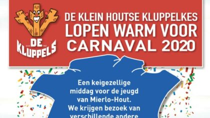 Pre-carnavalsfeest bij De Klein Houtse Kluppelkes met 'Warming-up Party'