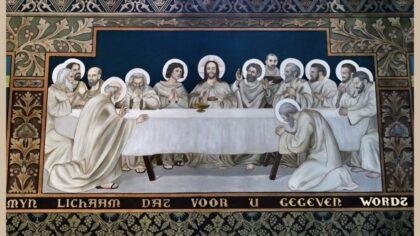 Studenten Sint Lucas schrijven geschiedenis bij restauratie wandschilderingen Lambertuskerk.