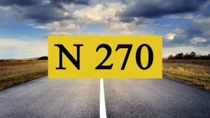 Commissie: 'Probeer verbetering N270 zonder wegverbreding'
