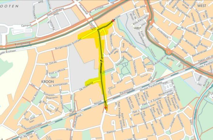 Wegafsluitingen in Mierlo-Hout