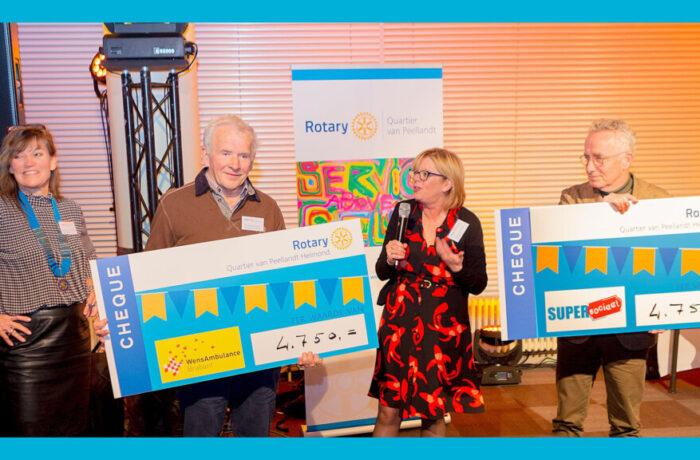 Cabaretdiner Rotary Quartier van Peellandt levert € 9.500,- op voor Wensambulance en Supersociaal