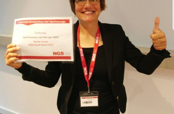 Nicole Loeve uit Helmond verkozen tot sportmasseur van het jaar