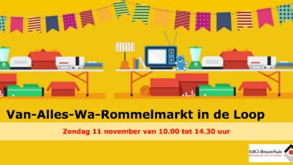 """Rommelmarkt """"Van alles Wa"""" 17 maart 2019"""