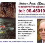 Boekpresentatie door Frans Claessens van zijn derde boek