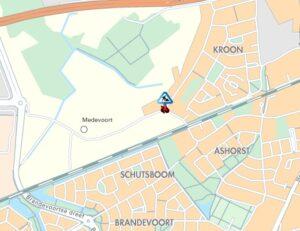 afsluiting driehoek Krollaan Medevoort