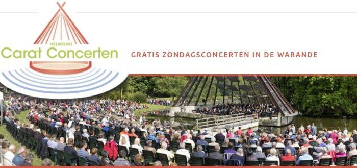 de eerste Carat-Concerten van het seizoen 2019 in stadswandelpark de Warande.