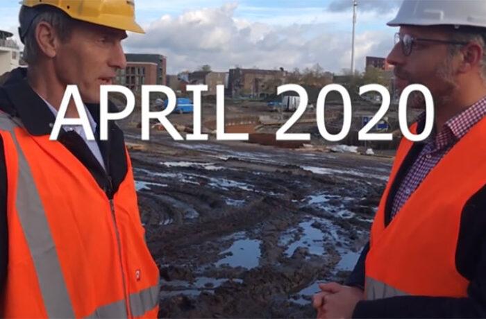 Voortgang aanleg Burgemeester Geukerspark Helmond-Centrum najaar 2019