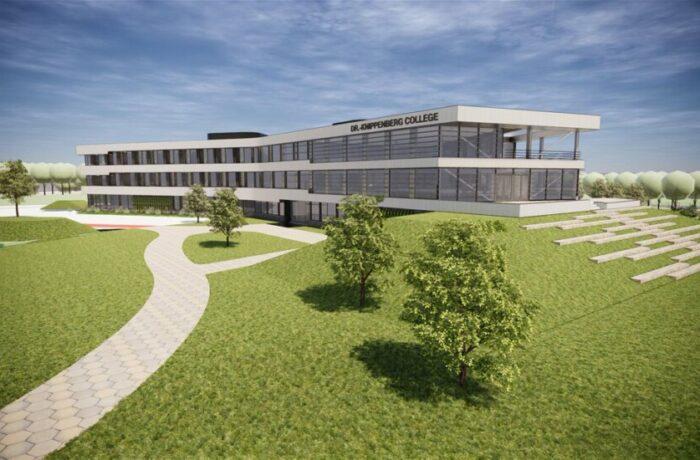 Nieuwbouw Dr.-Knippenbergcollege: wandel nu al door het nieuwe schoolgebouw op Campus De Braak!