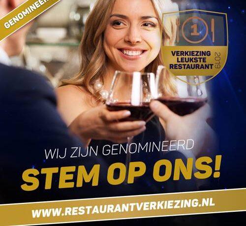St. Lambert is genomineerd voor het leukste restaurant van de gemeente Helmond. Stemt U mee!