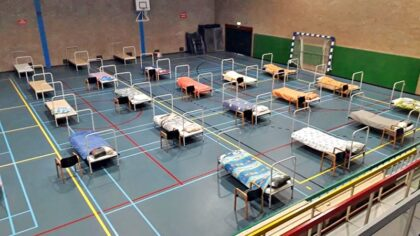 Daklozenopvang in sporthal De Braak langer open