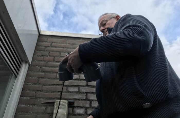 Eerste fijnstofsensor van Rijpelberg geplaatst
