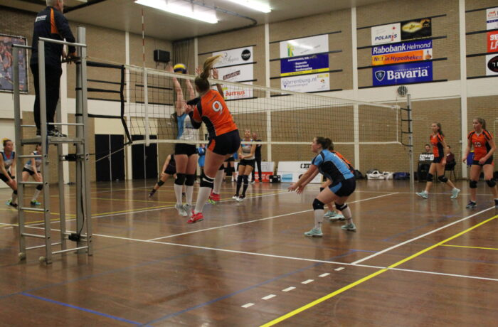 Volleybalsters Polaris verspelen kostbare punten