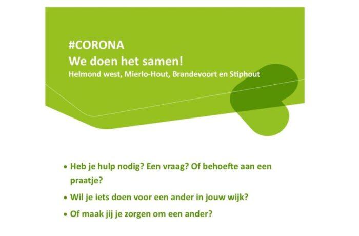 #Corona. We doen het samen!