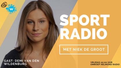 Demi van den Wildenburg bij Omroep Helmond Sportradio