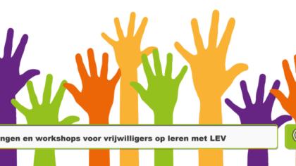 Workshop-aanbod voor vrijwilligers uitgebreid