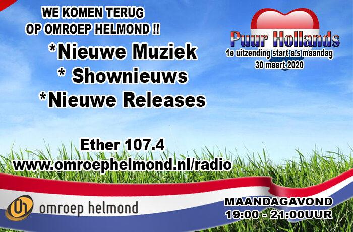 Puur Hollands komt terug op Omroep Helmond radio