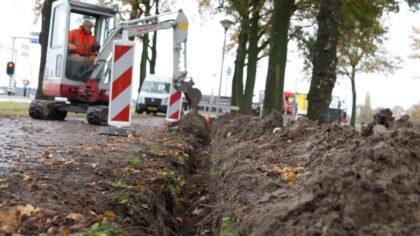 Aanleg glasvezel in Leonarduswijk en Steenweg
