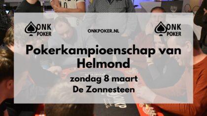 Pokerkampioenschap van Helmond bij de De Zonnesteen in Brouwhuis