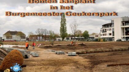 Bomenplantdag Burgemeester Geukerspark