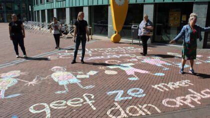 Campagne 'voor 14' begint met tekenen op straat