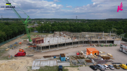 Nieuwbouw Dr.-Knippenbergcollege vanuit de lucht