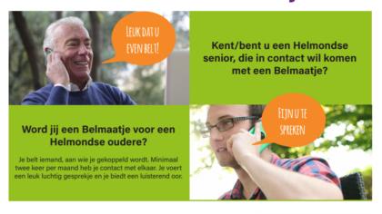We zijn op zoek naar Belmaatjes voor eenzame ouderen in Helmond