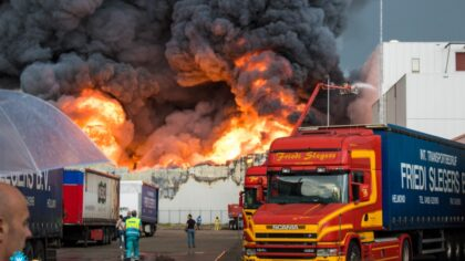 Flinke brand bij Huijbregts Groep aan Vossenbeemd