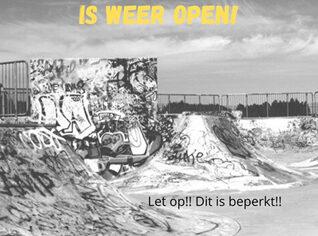 Het skatepark bij het Tienerhuis is  weer open