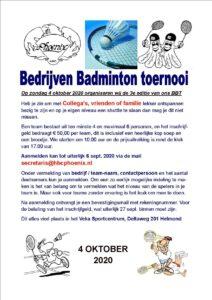 Bedrijven badminton toernooi @ Veka Sportcentrum