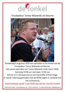Optreden Troubadour Tonny Wijnands uit Deurne in De Fonkel @ Wijkhuis De Fonkel | Helmond | Noord-Brabant | Nederland