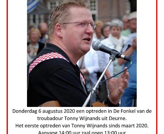 Optreden Troubadour Tonny Wijnands uit Deurne in De Fonkel