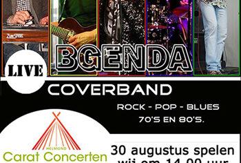 Carat Concerten: Bgenda