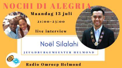 Jeugdburgemeester Noël Silalhi in radioprogramma Omroep Helmond