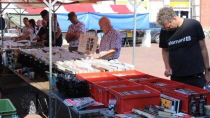 Platenbeurs in Helmond centrum druk bezocht