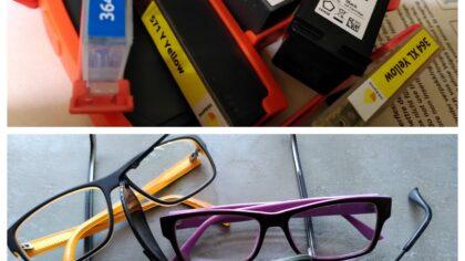 Oude brillen of lege inktcartriges? niet weggooien!