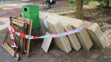 Illegale dump in Brouwhuis