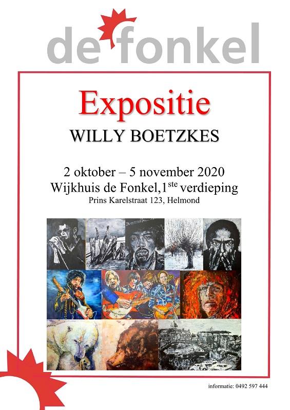 Expositie Willy Boetzkes in Wijkhuis De Fonkel