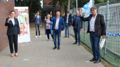 Feestelijke aftrap op de Antoon van Dijkschool met wethouder Dortmans
