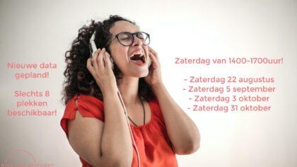 Laagdrempelige workshop; Zingen Zonder Zorgen