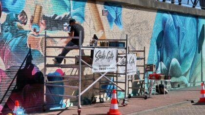 Muurschilderingen Traversemuren bijna klaar