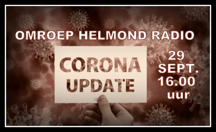 Extra uitzending Corona Update bij Omroep Helmond