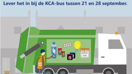 Vanaf 21 tot en met 28 september rijdt de KCA-bus weer door Helmond