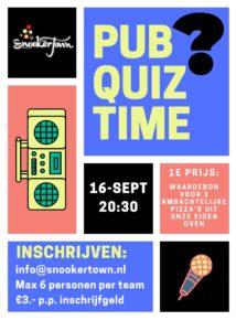 Pub Quiz bij Snookertown @ Snookertown   Helmond   Noord-Brabant   Nederland